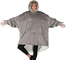 THE COMFY Original | Oversized Microfiber & Sherpa Wearable Blanket, Seen On Shark Tank One Size Fits All