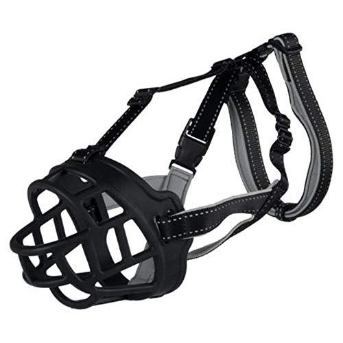 Maulkorb für Hunde Anti Kauen Beißen Ermöglicht Trinken Sicherheit Maske für kleine mittlere Große Hunde Mund Abdeckung-L - (30-34 cm) (Hersteller Grosse - 4)
