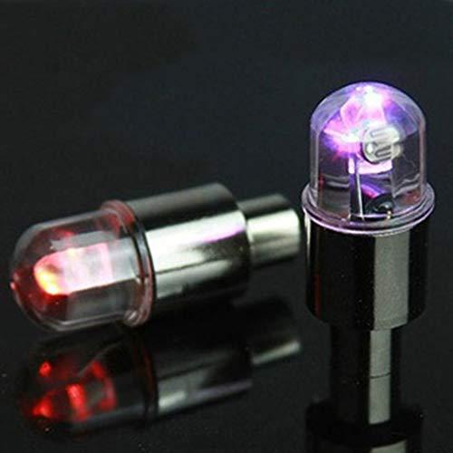 Band Ventielkap Licht Knipperend Fiets Auto Wiel Lamp Spaak LED Licht Zilver