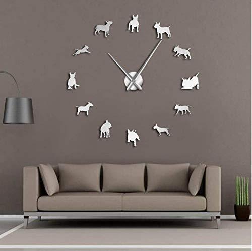 Diverse hondenrassen 3D DIY Giant Wandklok Huisdier Winkel Muur Kunst Puppy Hond Soorten Decoratieve Klok Horloge Eco Vriendelijk Gift Huisdier Liefhebbers