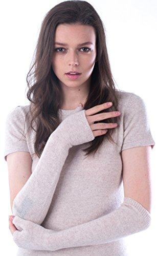 cashmere 4 U fingerlose Langarm-Fäustlinge aus 100% Kaschmir für Damen