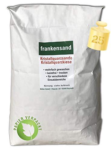 Müller GmbH 25 kg Filtersand Filterkies Kristallquarzsand Quarzsand für Sandfilteranlagen Papiersack (0,63-1,25 mm)