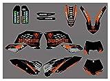 Xuefeng Gráficos de Motocicletas con Fondos a Juego Pegatina para KTM 125 200 250 300 350 400 450 55 525 530 SX SXF SX-F 2007-2010