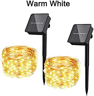 SIZOO - Lighting Strings - LED Outdoor Solar Lamp String Lights 100/200/300 LEDs Fairy Holiday Party Waterproof Solar Gard...