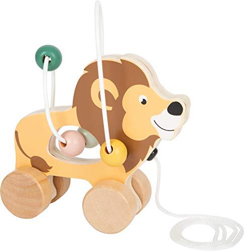 Small Foot 11705 Lion à Tirer avec Circuit de motricité Safari, à partir de 12 Mois Toys