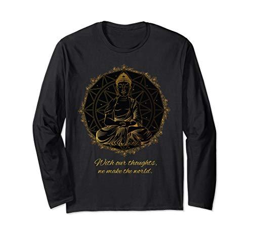 Buddha Zitat Mandala Gedanken Thoughts Langarmshirt