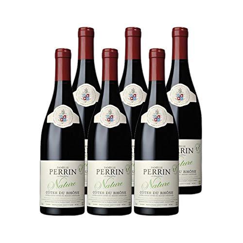 Côtes du Rhône Nature Rouge 2016 - Bio - Famille Perrin - Vin AOC Rouge de la Vallée du Rhône - Lot de 6x75cl - Cépages Grenache, Syrah