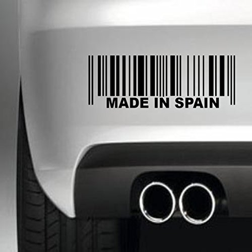 South Coast Stickers Made In Spain Barcode STICKER FUNNY BUMPER STICKER CAR VAN 4X4 WINDOW PAINTWORK DECAL EURO LAPTOP DRIVE