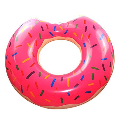djryj Unieke Donut Zwemring 100cm Oversized Dikke Opblaasbare reddingsboei Voor Mannen En Vrouwen Breed, Grappige Opblaasbare Vinyl Zomer Zwembad of Strand Speelgoed voor Camping, Picknick en Andere Outdoor Activiteiten