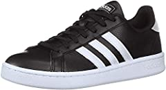 Tennis-inspired shoes with classic style for everyday wear Regular fit; Lace closure Polyurethane-coated leather upper for durability Rubber outsole for excellent traction; Textile lining