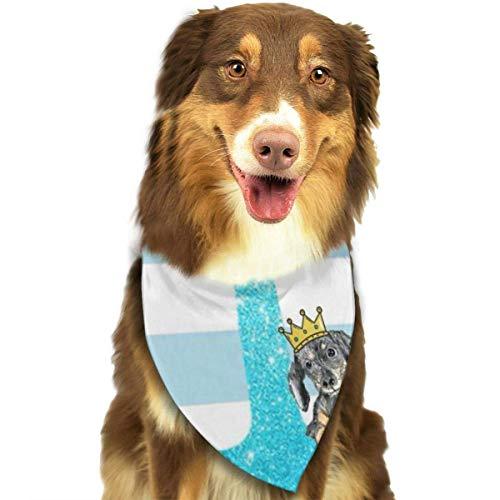 Anclas de Purpurina Azul Collares de Bandana para Perros Pañuelo Triangular Baberos Bufandas Accesorios Mascotas Gatos y Cachorros Toalla de Saliva