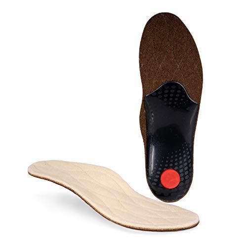 biped Premium Winter Fußbett - warme Schuheinlagen aus echter Wolle und Naturkork - Einlegesohlen Winter z1715(46)