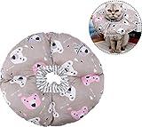 Katze Schutzkragen Soft Edge Circle Pet Schutzkragen Anti Biss Safty Kragen für Katzenwelpen Pet Anti Bite Leck Chirurgie Wundheilung(Kaffee)