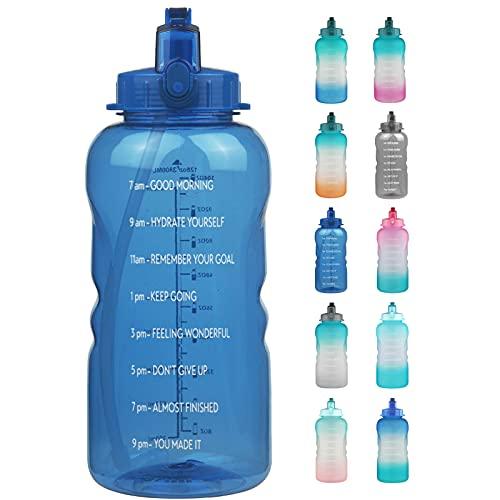 Reeho 3.8 L Botella Agua Deporte, Botella Plastica Tritan Reutilizable 1 Galón,...