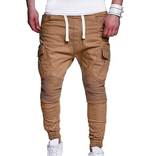 Hellomiko Pantalons de Camouflage décontractés pour Hommes Pantalons de Jogging Amples Hommes Petits Pieds Pantalons de survêtement Sarouels à Cordon