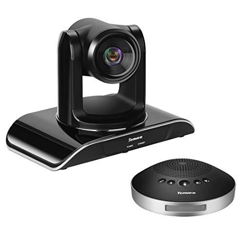 SUFUL Tenvo Nueva cámara para sala de conferencias y altavoz inalámbrico bluetooth con sistema de videoconferencia todo en uno, zoom óptico de 3 vías USB PTZ Sala de conferencias para reunione