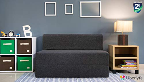 Uberlyfe Folding Sofa Cum Bed Perfect For Guests Jute Fab Rs. 6649  ( 48%  Discount).