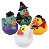 The Dreidel Company Halloween Rubber Duck Monster Toy Duckies for Kids, Bath Birthday Gifts Baby Showers Summer Beach and Pool Activity, 2