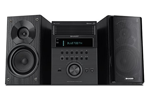 Sharp XL-BH250 Sharp 5-Disc Micro Shelf Executive Speaker System with Bluetooth, USB Port for MP3 Playback, AM/FM, Audio in for Digital Players