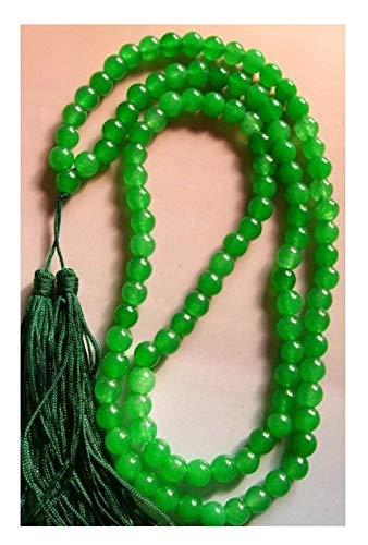 SHOYY Collar de oración budista con cuentas verdes de Jades Tíbet