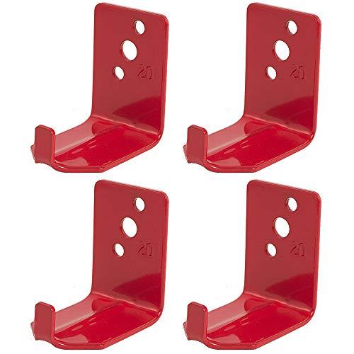 Universal Fire Extinguisher Wall Hook, Mount, Bracket, Hanger for 15 to 20 Lb. Extinguishers (4 Pack)