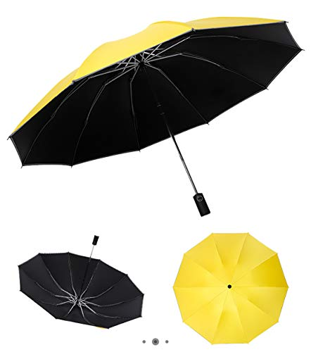 GOLWIS逆折り畳み傘折りたたみ傘逆折り式自動開閉10本骨紫外線防止晴雨兼用収納ポーチ付き梅雨対策風に強いkasa0003(イエロー)
