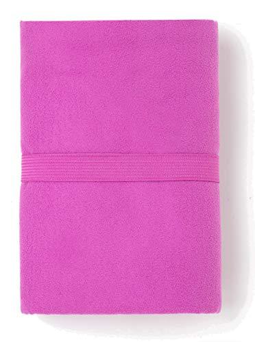 TEX – Telo mare in microfibra, asciugatura rapida, ultraleggero, 80 x 130 cm, viola