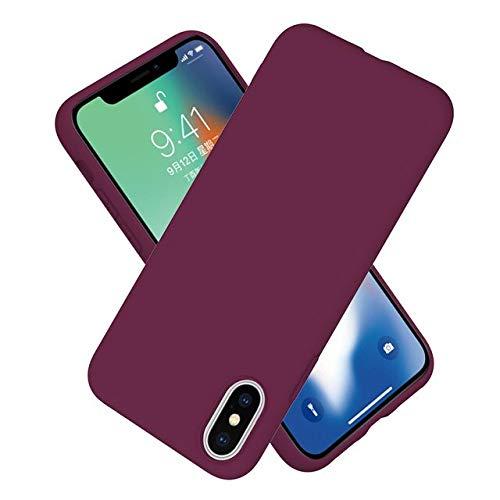 TONGTONG Carcasa sólida para iPhone 11 12 Pro Xs Max Xr X 10 8 7 6 6S Plus 7Plus 8Plus 6Plus Moda Color Candy Parejas Funda