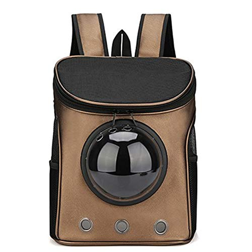 Yiqing Sac à Dos pour Animaux de Compagnie Traveler Space Bubble Backpack Chat et Chien Transporteur pour Animaux de Compagnie Sac à Dos Portable,Brown