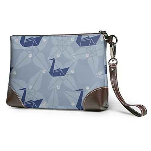 XCNGG Weiche wasserdichte Wristlet Clutch Brieftasche Flying Birds Gefaltet in Papier Hand Clutch Bag mit Reißverschluss für Frauen Mädchen