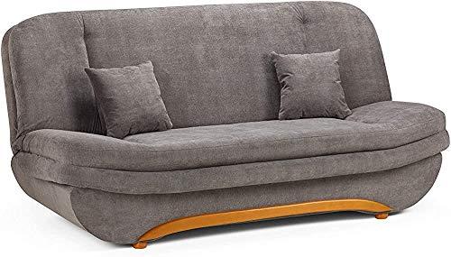 Mobili Soggiorno, stoccaggio posti divano letto -2 - tessuto grigio,Grey
