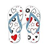 Conjunto de chanclas de estrellas y corazones dibujados a mano con elementos casuales unisex tanga sandalia linda para...