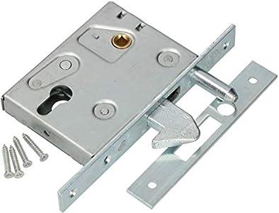 KOTARBAU - Cerradura de gancho para puerta corredera F-60, galvanizada, resistente a la corrosión