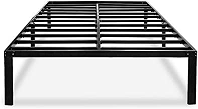Heavy Duty King Bed Frame No Box Spring Needed 14 Inch Black Metal Platform Beds Frames with Storage