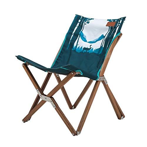SOAR Deckchairs Campingstuhl Klappsessel Aus Holz Deluxe Kompakter Tragbar Anglerstuhl Gartenstuhl, 2 Farben (Color : A)