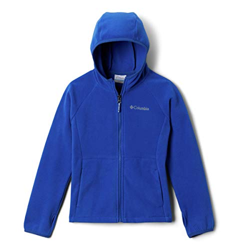 Columbia Girls' Little Kids Fast Trek II Fleece Hoodie, Azul, Small