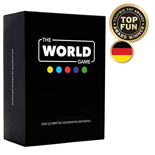 The World Game – Geografie Kartenspiel – Lernspiel für Kinder, Familie und Erwachsene - Deutsche Version