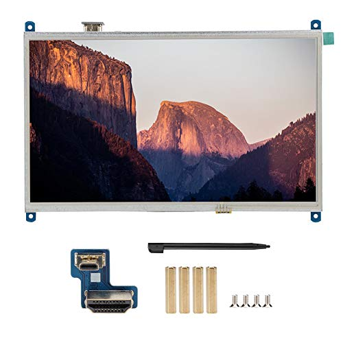10.1 inch Touch Screen Display for Raspberry Pi 4B, 1024x600 Resolution Backlight Control LCD TFT with Adapter