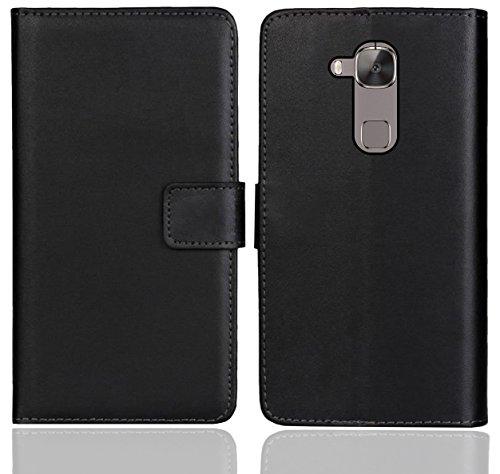 Huawei G8 / GX8 Handy Tasche, FoneExpert® Wallet Hülle Flip Cover Hüllen Etui Ledertasche Lederhülle Premium Schutzhülle für Huawei G8 / GX8 (Schwarz Farbe)