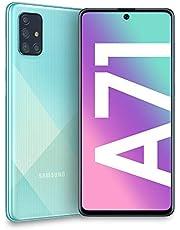 "Samsung Galaxy A71, Smartphone, Display 6.7"" Super AMOLED, 4 Fotocamere Posteriori, 128 GB Espandibili, RAM 6 GB, Batteria 4500 mAh, 4G, Dual Sim, Android 10, [Versione Italiana], Prism Crush Blue"