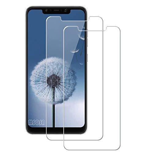 MSOSA für Xiaomi Poco F1/Pocophone F1 Panzerglas,Schutzfolie, Bildschirmschutzglas für Xiaomi Redmi Poco F1/Pocophone F1 Schutzglas Folie [Ultra-klar] [9H Festigkeit] [Bubble Free]