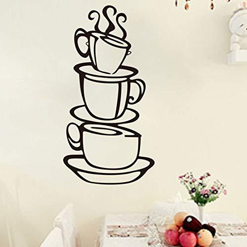 YuanMinglu Kaffee Sticker Fashion Home Kitchen Sticker Schwarz 30x60cm