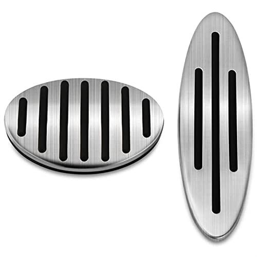 bilpedaler Gasbromspedalskyddet vid passform för mini Cooper JCW R55 R56 R60 R61 F54 F55 F56 F60 (Color Name : Silver)