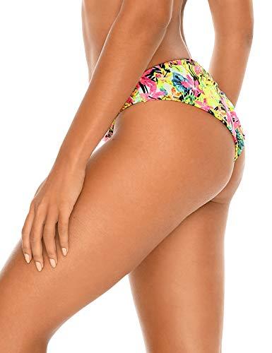RELLECIGA Damen High Cut Brazilian Bikini Bottom -  Grün -  Medium