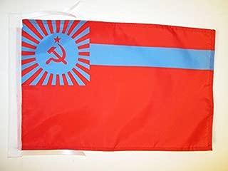 AZ FLAG Georgian Soviet Socialist Republic Flag 18'' x 12'' Cords - Georgia SSR Small Flags 30 x 45cm - Banner 18x12 in