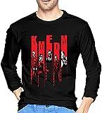 KMFDM Pattern Men's Long Sleeve T Shirt 100% Cotton Comfortable Tshirts
