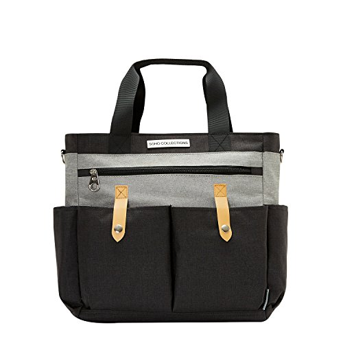 SoHo Saxham Diaper Bag 5Pc Tote Set, Gray