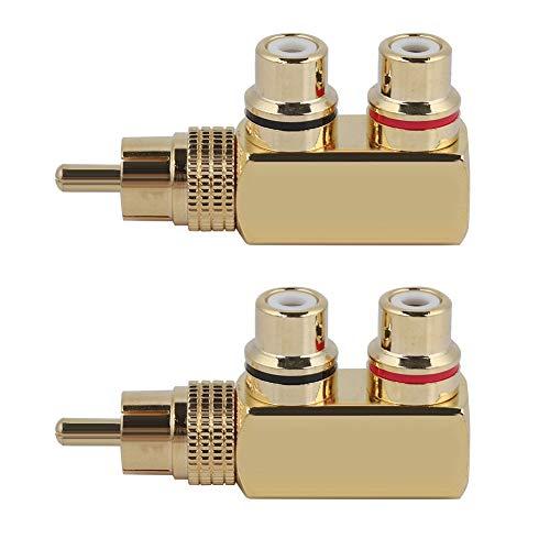 BOLORAMO Adaptador De Cable De Altavoz A, Adaptador De Acoplador De Interconexión Macho A Compacto Y Ligero para Amplificador para Mezclador