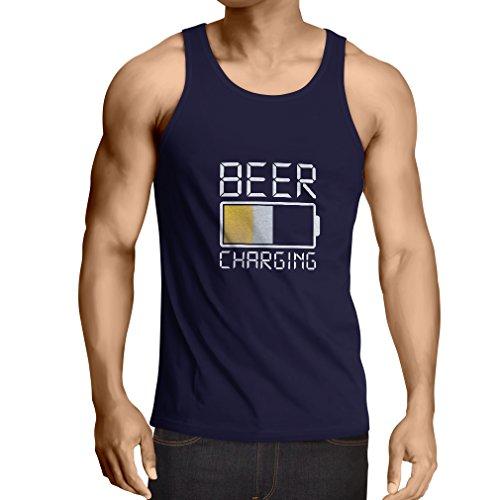 lepni.me Camisetas de Tirantes para Hombre Necesito más Cerveza, Regalos para los Amantes de la Cerveza (XXX-Large Azul Multicolor)