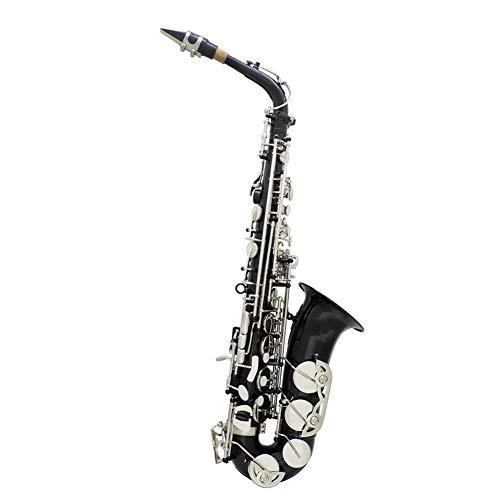 Sassofono nero chiave d'argento mi bemolle sassofono contralto Adatto for adulti amanti della musica Attori Studenti Strumento Sassofono Set di Musica per Principianti